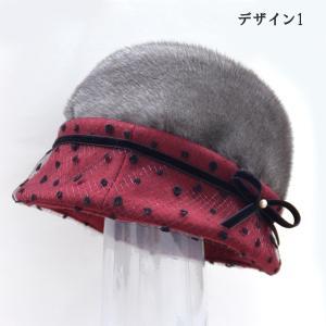 帽子 毛皮の帽子 ブリムチュール使いのミンククロッシェ 手作り日本製|atelier-doraneko