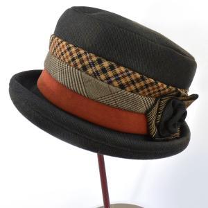 帽子 レディースハット ウール三段セーラー 手作り日本製 どら猫オリジナル|atelier-doraneko