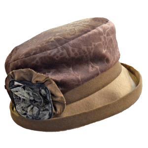 帽子 レディースハット 起毛ボタニカル柄セーラー|atelier-doraneko