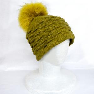 帽子 ニット帽 BACCI ウールファー付きニット|atelier-doraneko