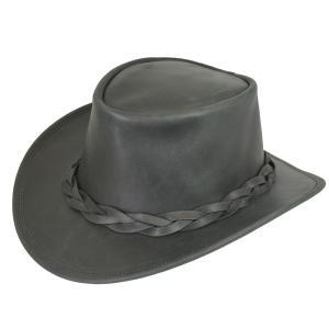 帽子 牛革のウエスタンハット(テンガロンハット/カウボーイハット)/ブラック|atelier-doraneko