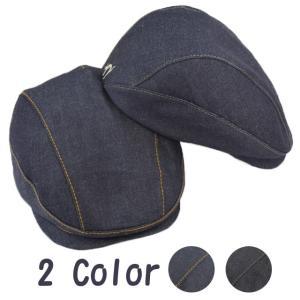 帽子 ハンチング デニムカラーステッチハンチング 手作り日本製 LL 3Lサイズあり|atelier-doraneko
