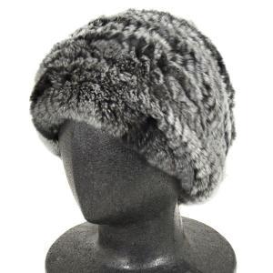 毛皮(ファー)の帽子 レッキスヤーンの帽子/チンチラ