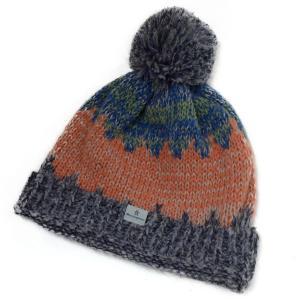 帽子 ニット帽 マンシングウェア アルパカ混ポンポンつきカラーニット|atelier-doraneko