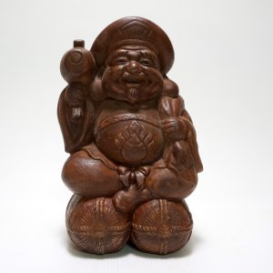 【備前焼】大黒様 笑顔が素敵な観光土産【時代物】|atelier-erica