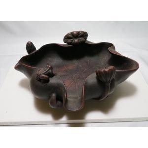 【備前焼 水盤】細工が綺麗な水盤 銘あり 横幅 約30cm|atelier-erica