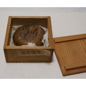 【備前焼 香合】箱付き 銘なし 直径 約6.4cm|atelier-erica|03