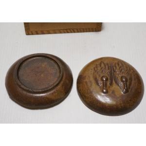 【備前焼 香合】箱付き 銘なし 直径 約6.4cm|atelier-erica|05