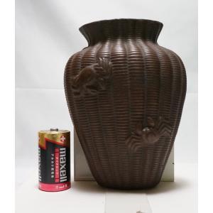 【備前焼】【掛け花】 箱なし 明治ごろの作 高さ 約17cm|atelier-erica