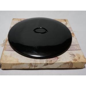 茶道具 真塗『水指の蓋』塗蓋 幅14.5cm 未使用保管品|atelier-erica