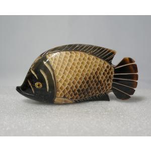 さかな 11cm 魚 サカナ 手彫り ハンドメイド【水牛の角】|atelier-erica