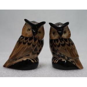 ふくろう 11.5cm 梟 フクロウ ふくろう Owl 【水牛の角】|atelier-erica
