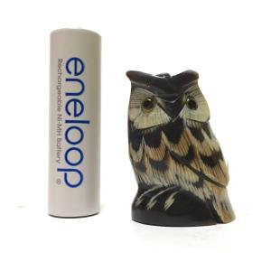 幸せを呼ぶ ふくろう 3.5cm 梟 フクロウ ふくろう Owl ミニチュア|atelier-erica