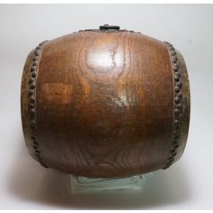 けやき 鼓面直径1尺(30cm)胴長約38cm 5.2kg 本物 重厚感 貴重|atelier-erica