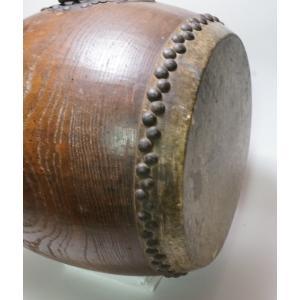 けやき 鼓面直径1尺(30cm)胴長約38cm 5.2kg 本物 重厚感 貴重|atelier-erica|11