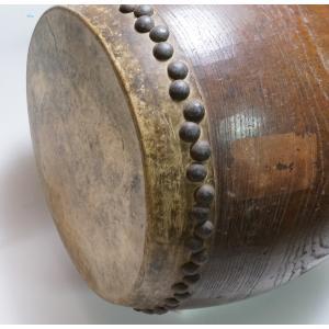 けやき 鼓面直径1尺(30cm)胴長約38cm 5.2kg 本物 重厚感 貴重|atelier-erica|12