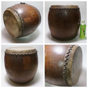 けやき 鼓面直径1尺(30cm)胴長約38cm 5.2kg 本物 重厚感 貴重|atelier-erica|03