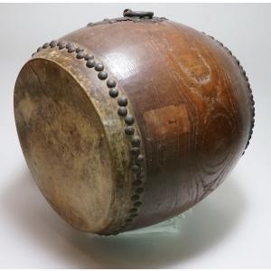 けやき 鼓面直径1尺(30cm)胴長約38cm 5.2kg 本物 重厚感 貴重|atelier-erica|05