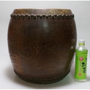けやき 鼓面直径1尺(30cm)胴長約38cm 5.2kg 本物 重厚感 貴重|atelier-erica|06