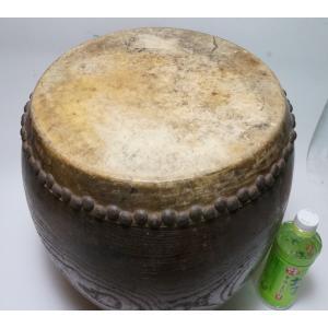 けやき 鼓面直径1尺(30cm)胴長約38cm 5.2kg 本物 重厚感 貴重|atelier-erica|07