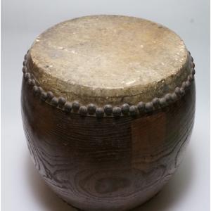 けやき 鼓面直径1尺(30cm)胴長約38cm 5.2kg 本物 重厚感 貴重|atelier-erica|09