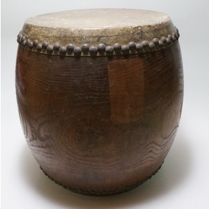 けやき 鼓面直径1尺(30cm)胴長約38cm 5.2kg 本物 重厚感 貴重|atelier-erica|10