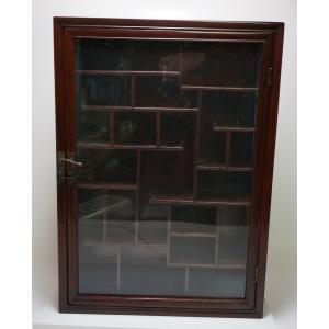【 ガラス戸 違い棚 高50cm 】茶道具 コレクションボックス 漆芸 漆器 木製 茶器 収納|atelier-erica