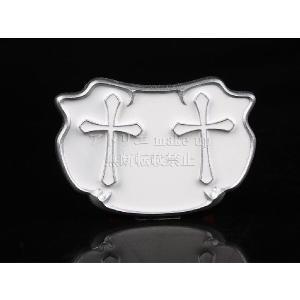 【商品説明】 道具1個:ダブル十字架バッジ 商品素材:ポリ塩化ビニル 商品サイズ:長さ11cm, 横...