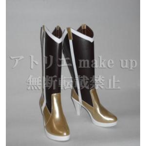 【魔法少女まどか☆マギカ コスプレ用ブーツ cosplay shoes 靴】巴 マミ ロングブーツ マンガ アニメ コスプレ atelier-makeup