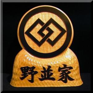 KKs-8ki家紋盾8号(白木家紋文字部墨載せ)楷書体 atelier-owl