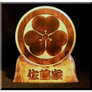 KKy-7k家紋盾7号(焼き仕上げ)勘亭流 atelier-owl