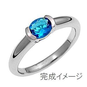 ジュエリーリフォーム、指輪リフォーム リング空枠100オーバル石用/横留め|atelier-ti