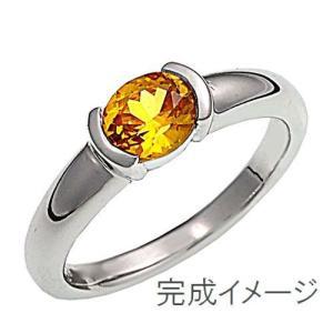 ジュエリーリフォーム、指輪リフォーム リング空枠110オーバル石用/横留め|atelier-ti