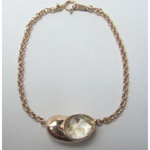 遺骨ブレスレット K18ピンクゴールド・水晶|atelier-ti