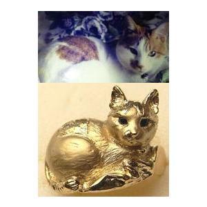 【ペットリング】写真から作るあなたのペット【そっくり指輪】K18制作例|atelier-ti