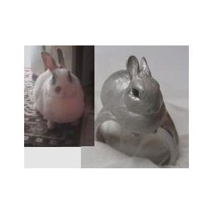 【ペットリング】写真から作るあなたのペット【そっくり指輪】SV制作例3|atelier-ti