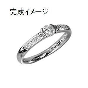 ジュエリーリフォーム リング空枠 0.26〜0.39ct(直径4.5mm前後)用s 出番の多いデザイン 指輪空枠|atelier-ti