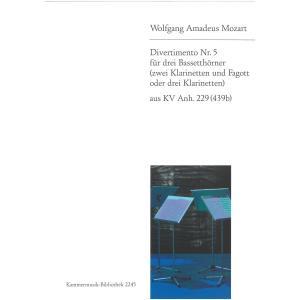 ディヴェルティメント KV.229 Nr.5/モーツァルト CL3重奏 Divertimento N...