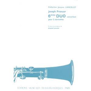6つの協奏的二重奏曲 第6番 / プランツァー 2CL 6 Duos Concertants No....