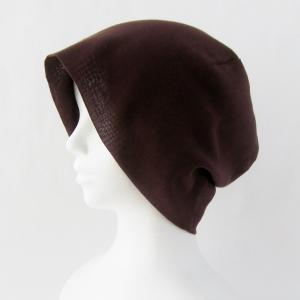 抗がん剤等脱毛時の帽子 ケア帽子 医療用帽子 にも使える 夏に涼しく下地にもなる ゆったりガーゼ帽子 茶|atelierf