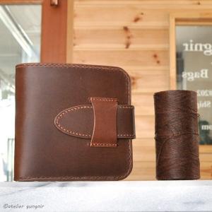 シンプルな折財布A No.1 ブッテーロ|ateliergungnir