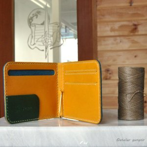 マネークリップの折財布A No.1 ブッテーロ|ateliergungnir