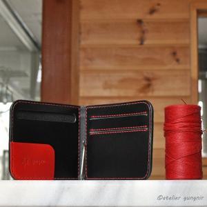マネークリップの折財布A No.2 ブッテーロ|ateliergungnir