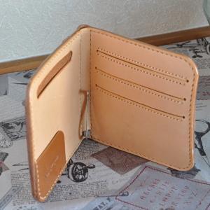 マネークリップの折財布B No.1 ブッテーロ|ateliergungnir