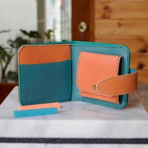 シンプルな折財布A No.2 ブッテーロ|ateliergungnir