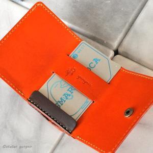 もっとコンパクトな3つ折り財布 No.1 ブッテーロ|ateliergungnir