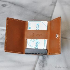 もっとコンパクトな3つ折り財布 No.2 ブッテーロ|ateliergungnir