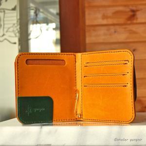 マネークリップの折財布B No.2 ブッテーロ|ateliergungnir