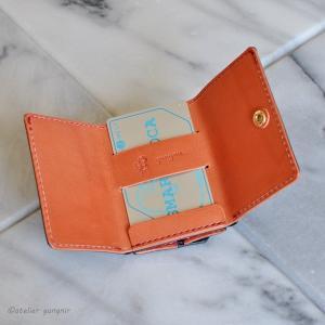 もっとコンパクトな3つ折り財布 No.3 ブッテーロ|ateliergungnir