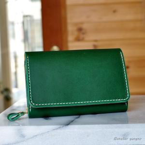 収納性抜群の三つ折り財布 No.6 ブッテーロ|ateliergungnir